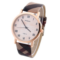 2015 New Women's Fashion Casual Quartz Watches Elegant Pattern Ladies Dress Wristwatch WOMAGE Retail Free Shipping