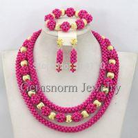 Classic African Beads Jewelry Set Wedding Nigerian Beads Necklace Set 2015 Fashion Free Shipping TS016