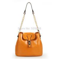 2015 NEW arrival genuine leather shoulder bag hand bag Chains bag