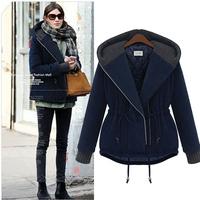 Plus size long-sleeve winter wadded jacket outerwear fashion cotton-padded jacket european fashion winter coat women