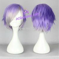 Free Shipping Diabolik Lovers Kanato Sakamaki wig cosplay wig mixed color short wig ACGcosplay