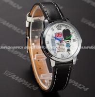 Brand New Black Leather Strap Relogio Fashion Lady Round White Dial Analog Clock Casual Dress Wrist Women Quartz Watch / PHN014