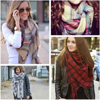 Hot-selling fashion 2014 cashmere big  plaid scarf female plaid Pashmina cape winter