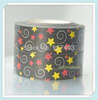 10rolls  15mm 10m  tape decoration stars paper tape handmade diy gift packing tape stationery tape