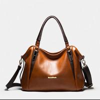 Oli Wax Litchi Cowhide Leather Bag 2015 Women Genuine Leather Shoulder Bags Fashion Leather Handbag New Messenger Bags Bolsas