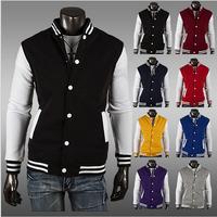2014 Hot Men's Jacket Baseball Fashion Jackets Coat Male Outwear Jackets Free Shipping M,L,XL,XXL
