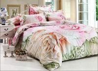 home textile 100% cotton 4pcs bedding set brand bedding-set include quilt cover flat sheet pillow case adult bed line queen