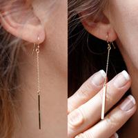 1Pair Free Shiping New Arrive Punk Jewelry Fashion Women Long Pendant Dangle Earrings Gift