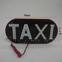 10pcsX 45SMD LED white/blue/green/red/yellow Taxi drive Board Light Cab Top lamp to indicator license plate lighting in night