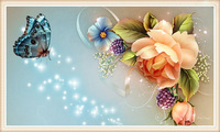 free shipping New-Arrival-Flower-buttefly-Diamond-Painting-Rhinestone-Craft-Diy-Diamond-Embroidery-Cross-Stitch-Needlwork-30x50
