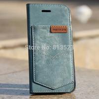 Vintage Denim Jeans Pocket Card Leather Cover case For iPhone 6 4.7,6 Plus 5.5