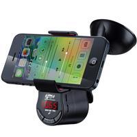 handsfree car kit speaker GPS game holder mobile phones MP3 FM transmitter handsfree calls Mobile navigation bracket clip FM09