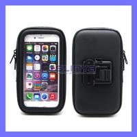 Black Color Waterproof Car Bike Holder Bag Zipper Case with Mount Stand Holder for iPhone 6 4.7inch