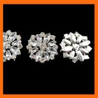 Free Shipping ! 100pcs/lot 25mm acrylic floral rhinestone embellishment for ribbon glue