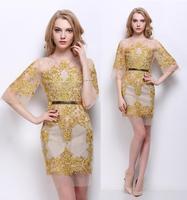 High Quality New Fashion Sexy Club Dress 2015 Spring Summer Women Gauze Embroidery Beading Slim Bandage Dress Bodycon Party