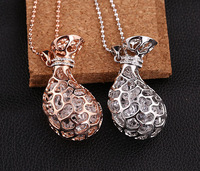 Accessories wholesale 18 k gold plated with Austrian crystal blessing bag lucky decoration luxury long necklace