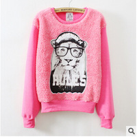 Sweatshirt 2014 New Autumn Women Fashion Character Printing Long-Sleeve Hoodies O-neck Casual Pullover B183