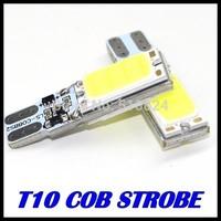 100pcs T10 COB t10 car led Strobe flash flashing Led car light source stop turn signal brake Parking Reverse Bulb Lamp
