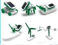 Solar Power 6 in 1 Toy Kit DIY Educational Robot Car Boat Dog Fan Plane Puppy toys