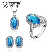 10sets/lotFVRS040 2015 new fine jewelry sets Extravagant Party jewlery set for lady Fashion Big Crystal set