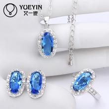 10sets lotFVRS040 2015 new fine jewelry sets Extravagant Party jewlery set for lady Fashion Big Crystal