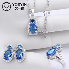 10sets lotFVRS032 2015 new fine jewelry sets Extravagant Party jewlery set for lady Fashion Big Crystal