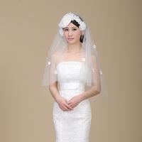 2014 wedding accessorieshandmade flower  bridal veil
