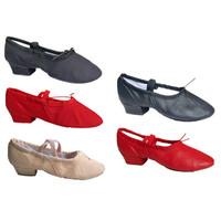 Girls Wear-proof Sole Breathable Canvas Pig-leather Vamp Shoes Women Ballet Dance Shoes Ladies Practice Ballet Shoes Kids LD034