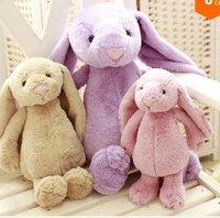 LY8654 3pcs/set 2014 New Cute Cartoon Lavender Rabbit Plush Toys Christmas Gift
