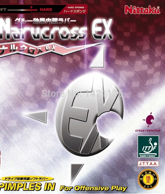 Nittaku Narucross EX Hard Pips-in Table Tennis Rubber Black Super Thick(China (Mainland))