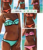 2014 bikini swimwear women high quality new style bathing suit gift tight sexy swimsuit  free shipping