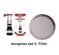Bundle - 2items: AeroPress Coffee Espresso Maker & Stainless Steel Disk Coffee Filter