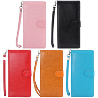 Black Wallet Leather Pouch Case for Samsung Galaxy S5 G900 N9000/ Sony Xperia Z2/ HTC One 2 M8/ LG Optimus F6