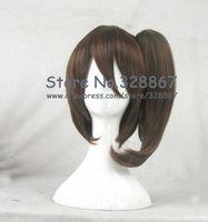 kanntai collection Kaga brown cosplay wig with ponytail