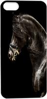 Black Handsome Cool Side View Of Horse Animal Hard Unique Designer Slim case for apple iphone 5 5S 5G