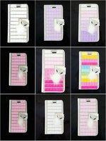 2015 Luxury Rhinestone Crystal Glitter Sexy Lip Lipstick Fox FurLeather Case Cover For Apple Iphone 6 plus 5.5'' Phone Shell