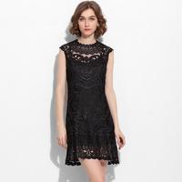 2014 news fashion robe lace dress black dress women dress evening party dresses