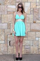 Hot selling NEW women sexy sequined strap sleeveless chiffon mini dress V neck backless candy color beach chiffon dress