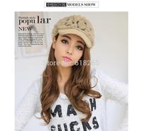 Free shipping, ms 2015 winter fur manual warm hat, baseball cap, fashion cap