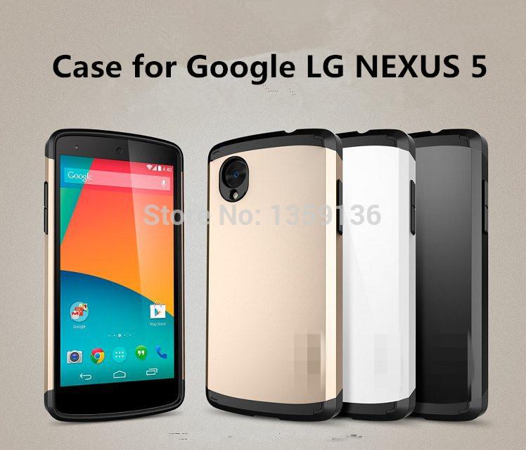 2014 resistente armadura caso de luxo para o Google LG NEXUS 5 Champagne ouro Hard Cover magro Linear EX saturno TPU(China (Mainland))
