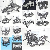 (100 pcs/lot) New Hot Sale Festive & Party Supplies Handmade Half-face Black & White Color Hollow Lace Mask Sexy Women Masks