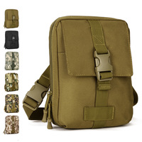 Outdoor tactical sport small shoulder mobile phone bag messenger bags clutch strap waist pack