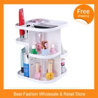 Free Shipping 10/lots HOT SALE 360 Degree Rotation Cosmetic Storage Box Cosmetic Storage Rack Shelf