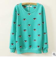 2014 New Autumn Women Sweatshirt Fashion Character Printing Long-Sleeve Hoody O-neck Casual Pullover B189