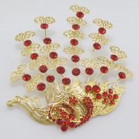 Bridal hair jewelry vintage golden color phoenix wings hair accessories wedding jewelry luxury tiara hairpins wedding crown 0165