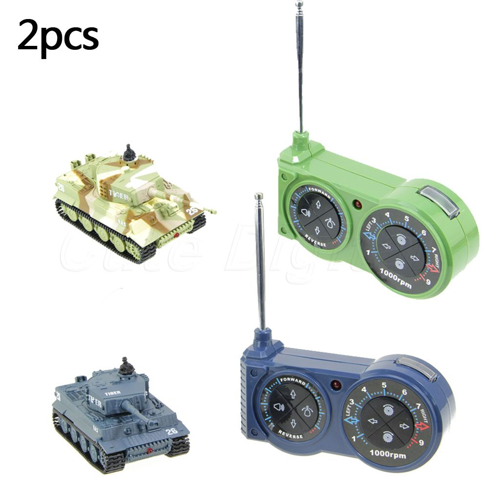 Hot 2Sets Mini Radio Remote Control Tank RC Military Tiger Tank Operated by AA Batteries Christmas Birthday Toys Gifts For kids(China (Mainland))