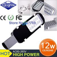 Retail free shipping sale 12V 24V AC85-265V12W led street light IP65 Bridgelux 130LM/W LED led street light 2 year warranty