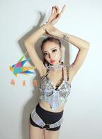 Ds costume fashion female singer dj twirled service jazz dance fashion sexy laser set