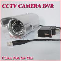 Free Shipping ! 32G dvr camera video/audio recording wireless usb security camera12V bus camera