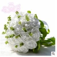 (23 pcs/bouquet) 2015 High quality bride holding flower white wedding bouquet wedding gift